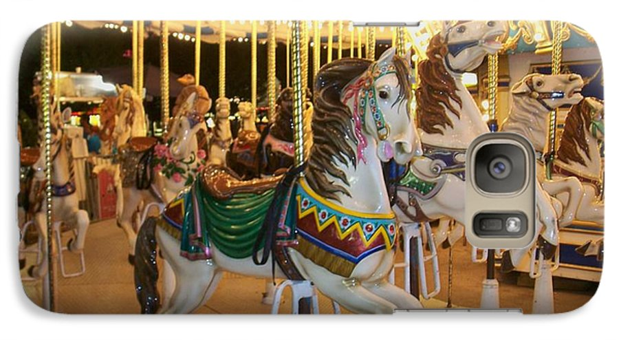 Carousel Horse Galaxy S7 Case featuring the photograph Carousel Horse 4 by Anita Burgermeister