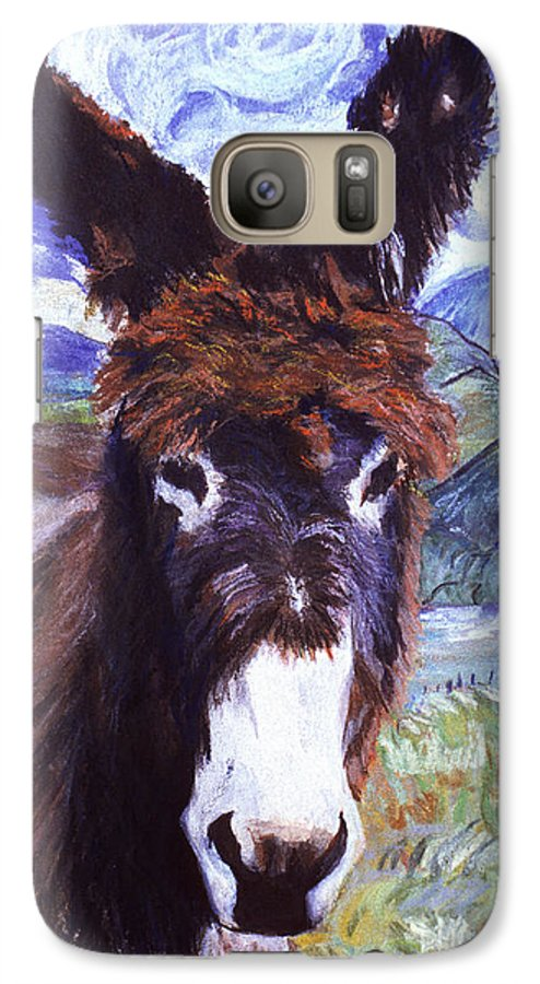 Pat Saunders-white Paintings Galaxy S7 Case featuring the mixed media Carrot Top by Pat Saunders-White