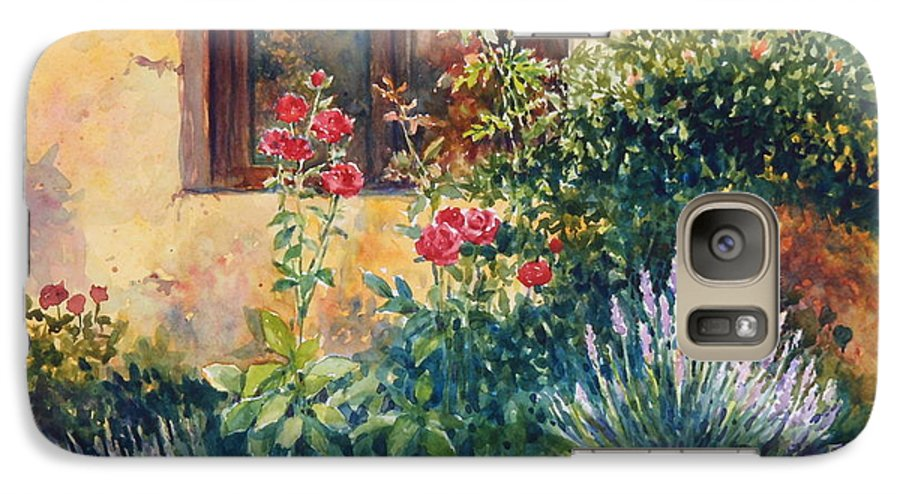Roses Galaxy S7 Case featuring the painting Casale Grande Rose Garden by Ann Cockerill