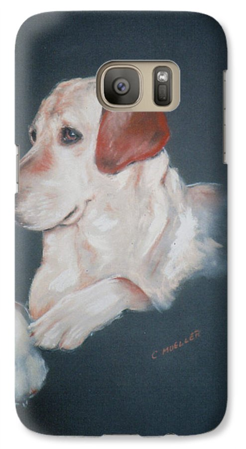 Dog Galaxy S7 Case featuring the painting Casey by Carol Mueller