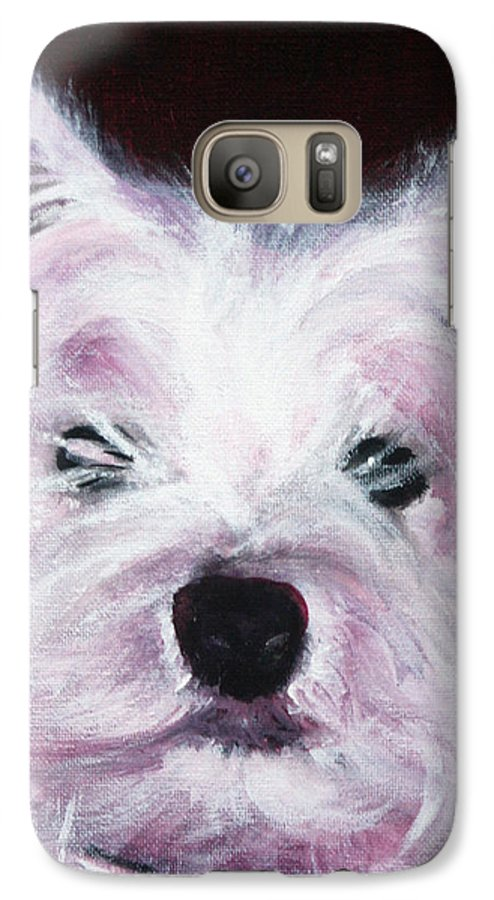 Dog Galaxy S7 Case featuring the painting Cassie by Fiona Jack