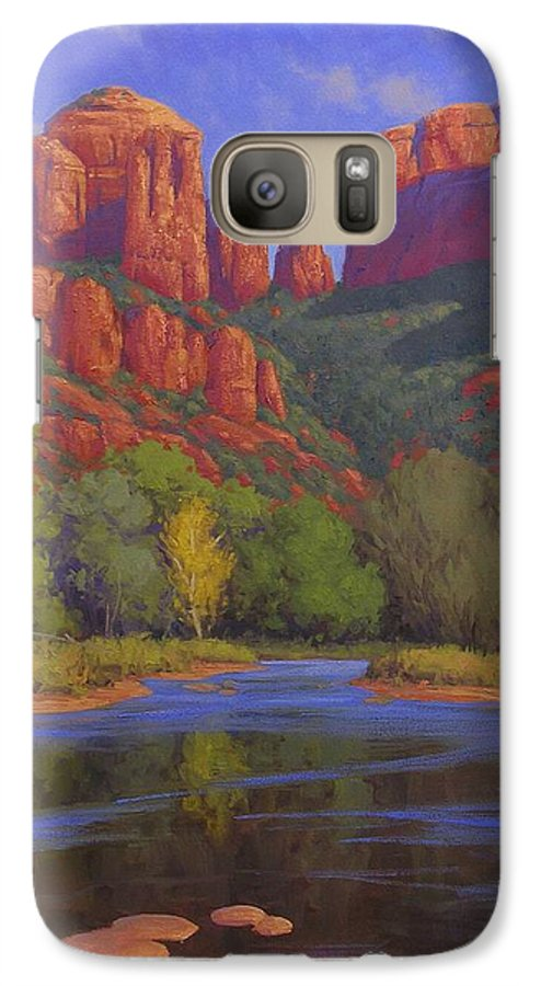 Sedona Galaxy S7 Case featuring the painting Cathedral Morning by Cody DeLong