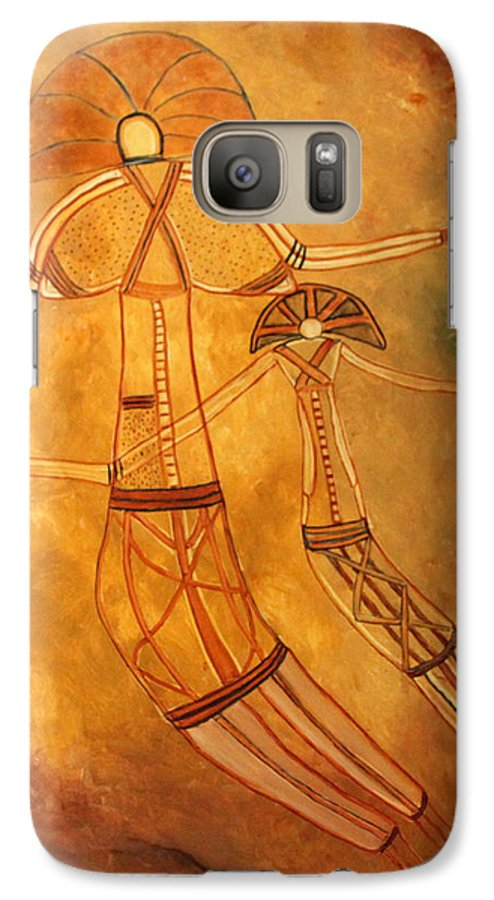 Cave Painting Galaxy S7 Case featuring the painting Cave Love by Pilar Martinez-Byrne