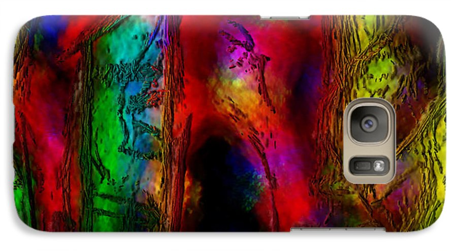 Abstract Galaxy S7 Case featuring the painting Caverns Of The Mind by Dee Flouton