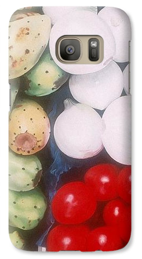 Hyperrealism Galaxy S7 Case featuring the painting Cebollas Tunas Y Tomates by Michael Earney