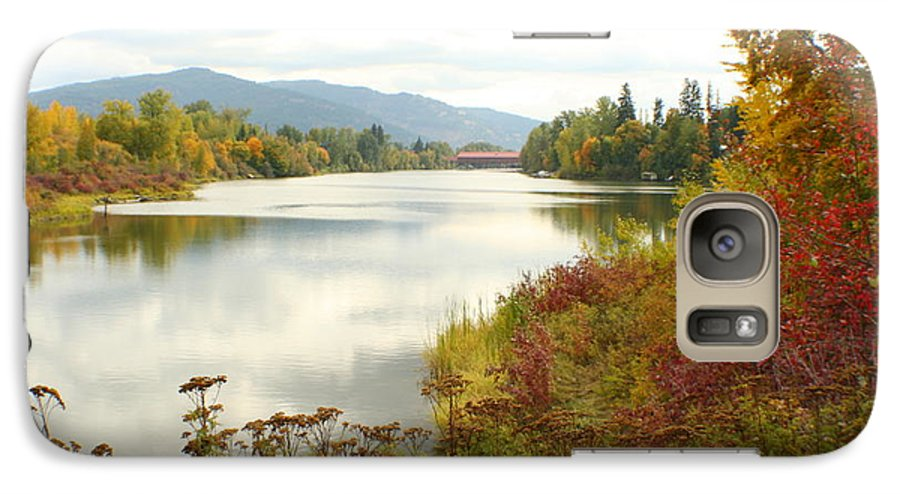 Cedar Galaxy S7 Case featuring the photograph Cedar Street Bridge by Idaho Scenic Images Linda Lantzy
