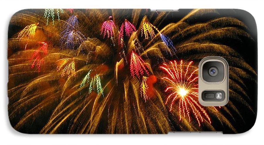 Fireworks Galaxy S7 Case featuring the photograph Celebrate by Rhonda Barrett