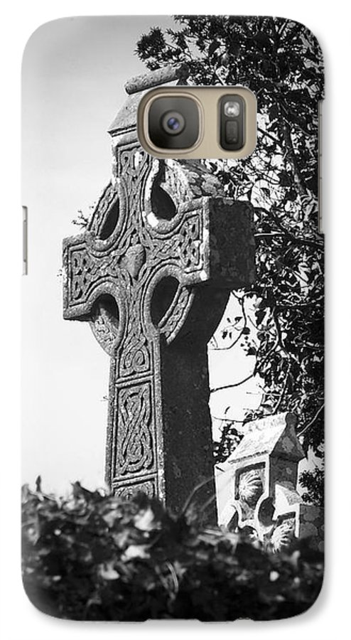 Celtic Galaxy S7 Case featuring the photograph Celtic Cross At Fuerty Cemetery Roscommon Ireland by Teresa Mucha