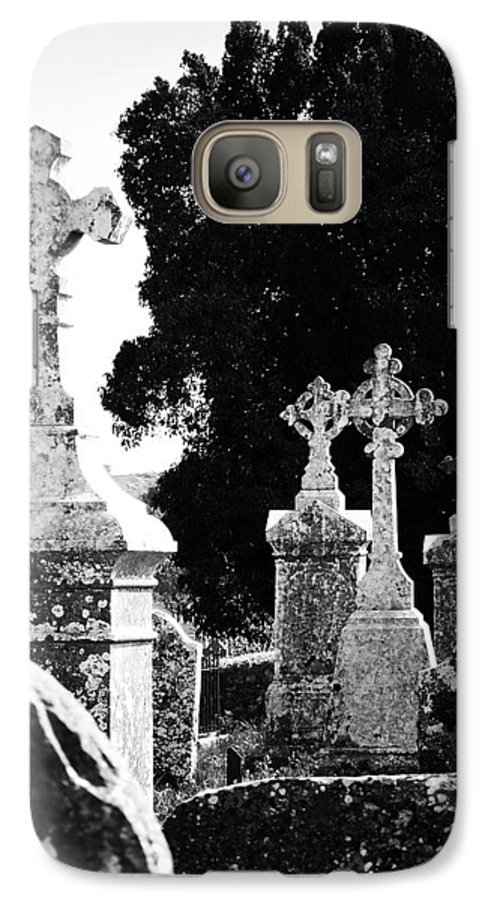 Celtic Galaxy S7 Case featuring the photograph Celtic Crosses At Fuerty Cemetery Roscommon Ireland by Teresa Mucha