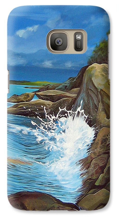 Ocean Galaxy S7 Case featuring the painting Cerulean by Hunter Jay