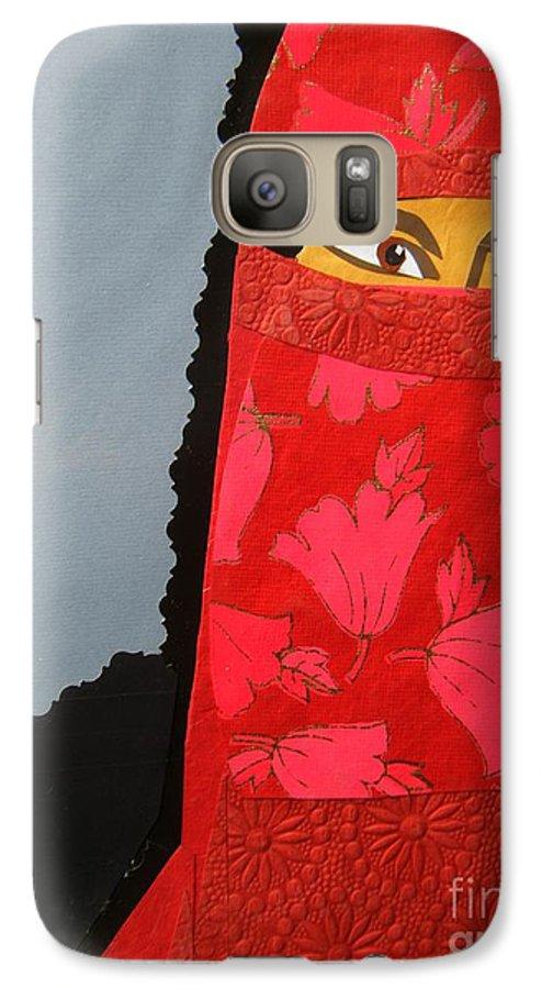 Woman Galaxy S7 Case featuring the mixed media Chador by Debra Bretton Robinson