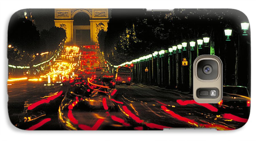 France Galaxy S7 Case featuring the photograph Champs Elysee In Paris by Carl Purcell