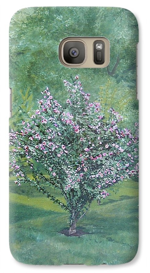 Blooming Galaxy S7 Case featuring the painting Charles Street by Leah Tomaino