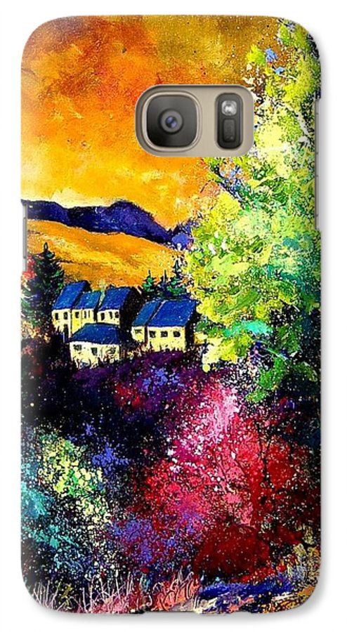 Landscape Galaxy S7 Case featuring the painting Charnoy by Pol Ledent