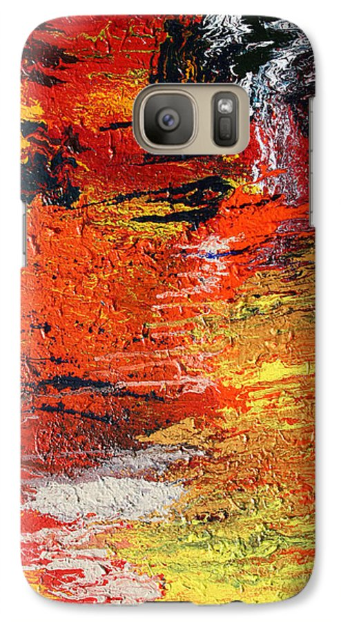 Fusionart Galaxy S7 Case featuring the painting Chasm by Ralph White
