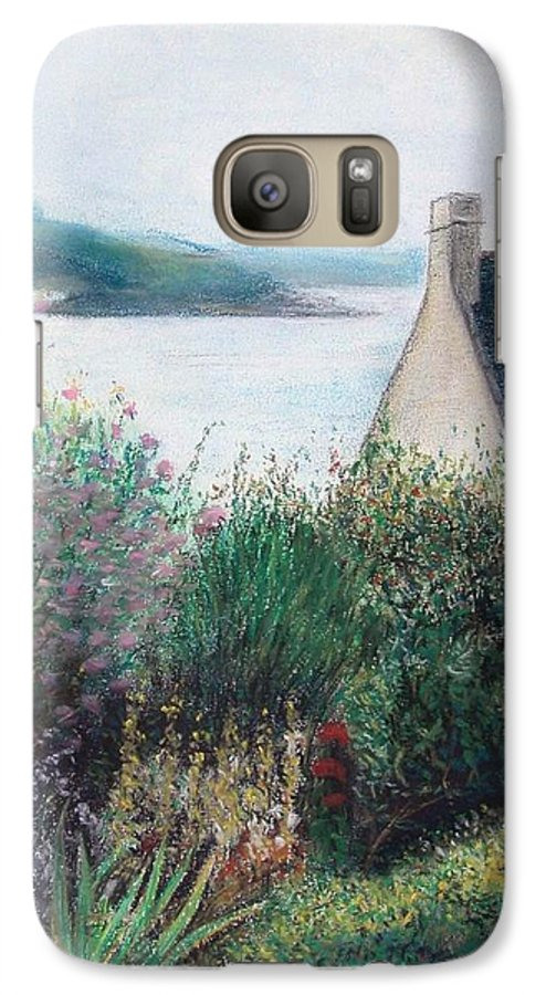 Landscape Galaxy S7 Case featuring the painting Chausey by Muriel Dolemieux