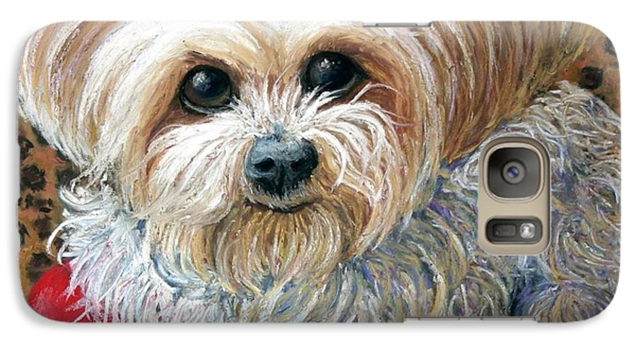 Dog Galaxy S7 Case featuring the painting My Friend by Minaz Jantz