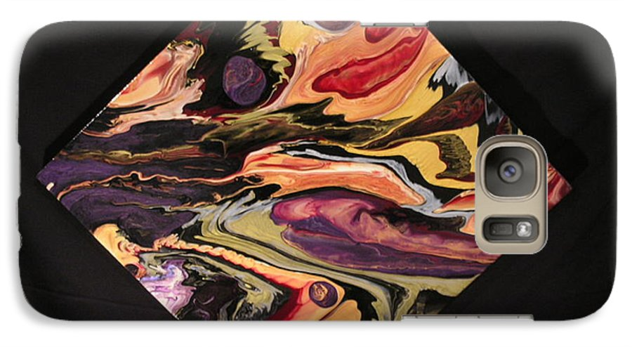 Abstract Galaxy S7 Case featuring the painting Cherish The Day by Patrick Mock