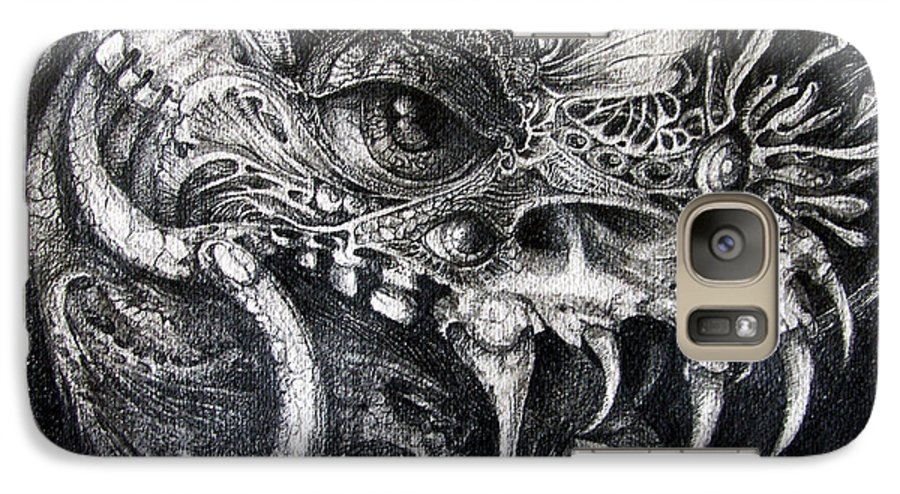 Galaxy S7 Case featuring the drawing Cherubim Of Beasties by Otto Rapp