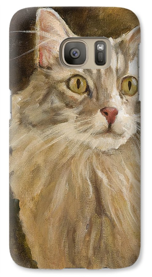 Animal Galaxy S7 Case featuring the painting Chessie by Jimmie Trotter