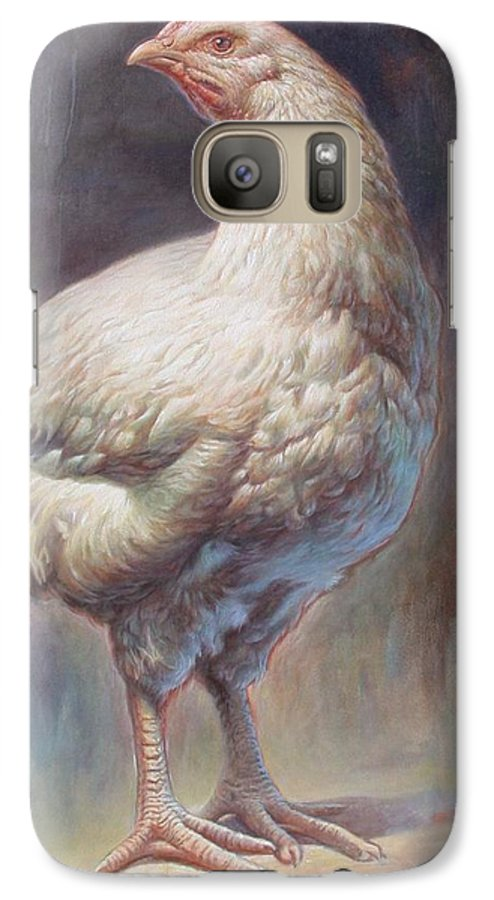 Chick Galaxy S7 Case featuring the painting Chick by Hans Droog