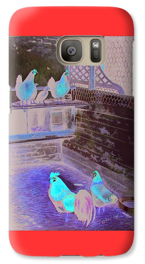 Far Galaxy S7 Case featuring the painting Chicken Coop by Ferrel Cordle