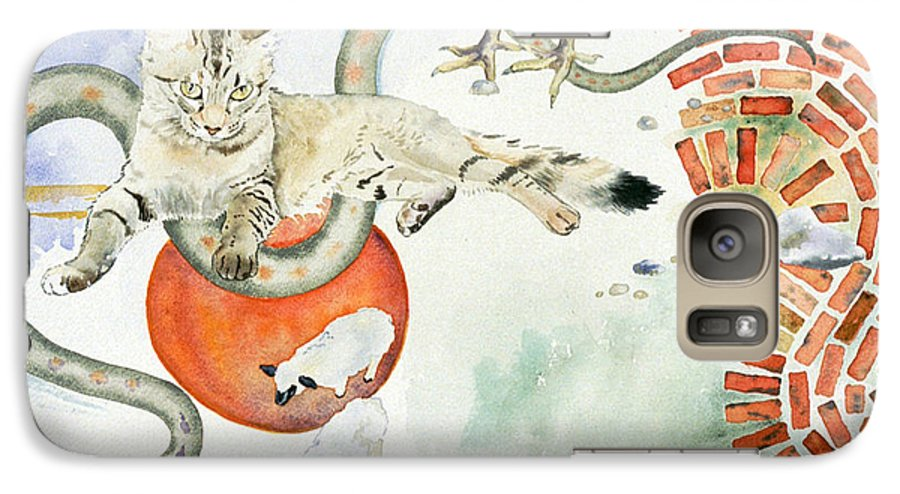 Surreal Galaxy S7 Case featuring the painting Chickenfoot Serpentine by Eileen Hale