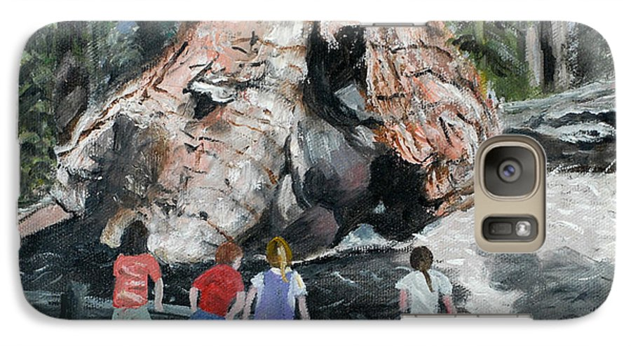 Children Galaxy S7 Case featuring the painting Children At Sequoia National Park by Quwatha Valentine