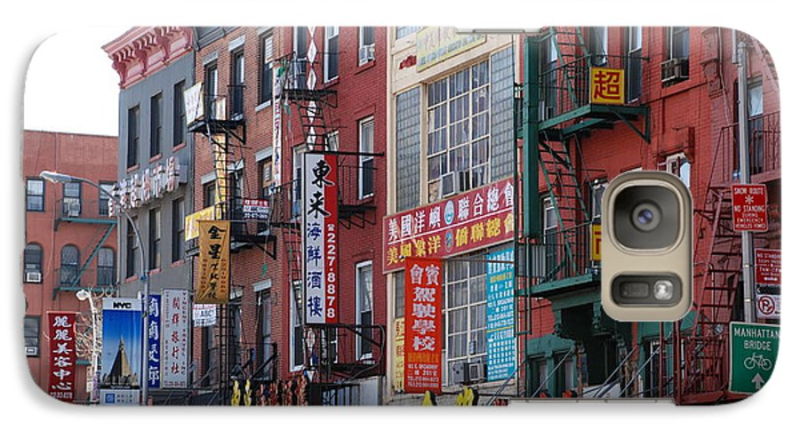 Architecture Galaxy S7 Case featuring the photograph China Town Buildings by Rob Hans