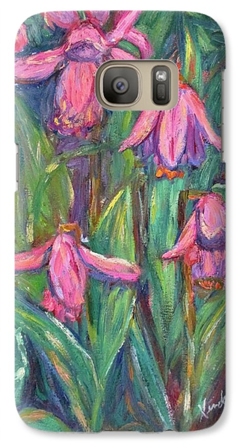 Floral Galaxy S7 Case featuring the painting Chinese Orchids by Kendall Kessler