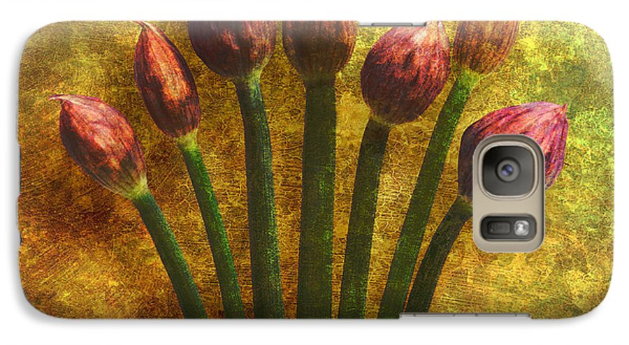 Texture Galaxy S7 Case featuring the digital art Chives Buds by Digital Crafts