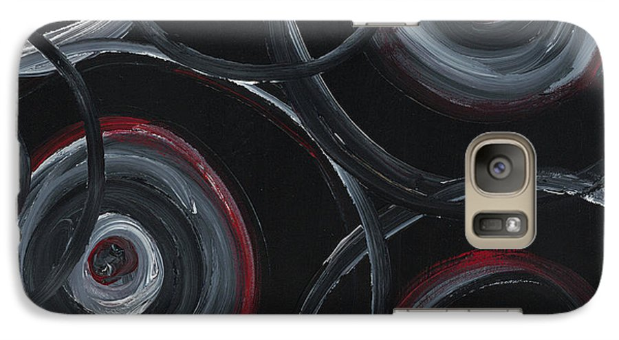 Circles Galaxy S7 Case featuring the painting Choices In Black by Nadine Rippelmeyer