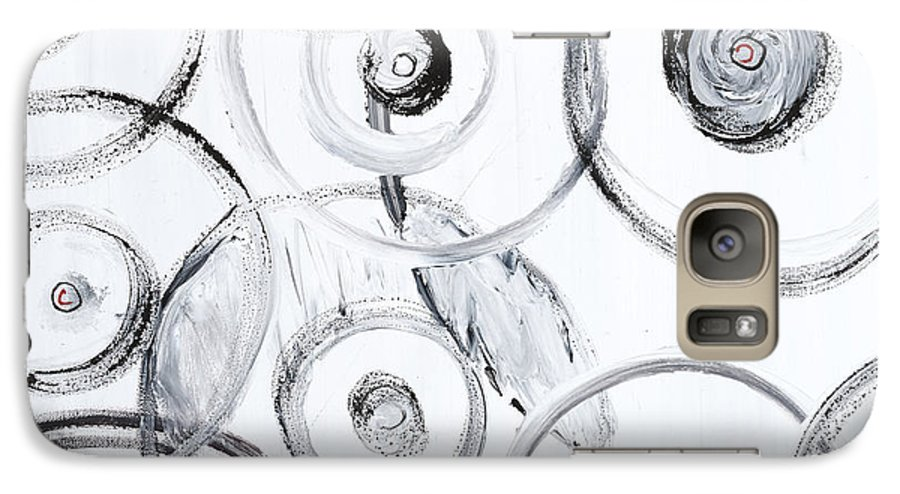 Circles Galaxy S7 Case featuring the painting Choices In White by Nadine Rippelmeyer