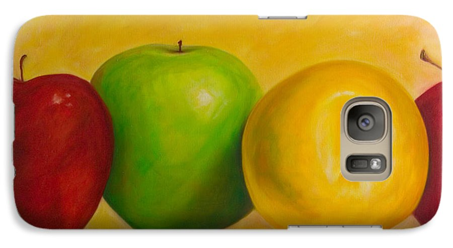 Still Life Galaxy S7 Case featuring the painting Chorus Line by Shannon Grissom