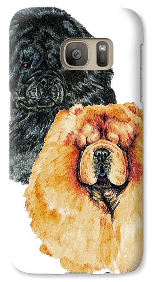 Chow Chow Galaxy S7 Case featuring the painting Chow Chows by Kathleen Sepulveda