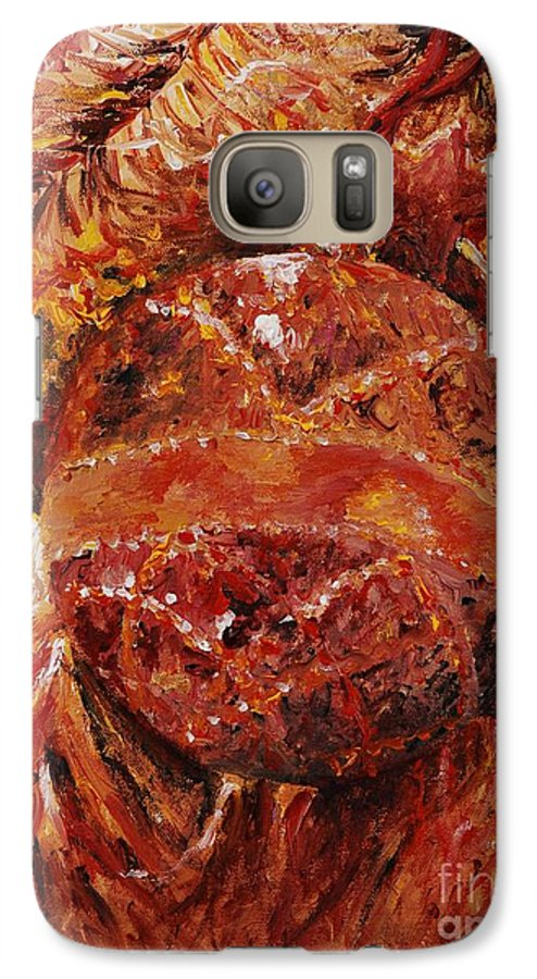 Christmas Galaxy S7 Case featuring the painting Christmas Glitter by Nadine Rippelmeyer