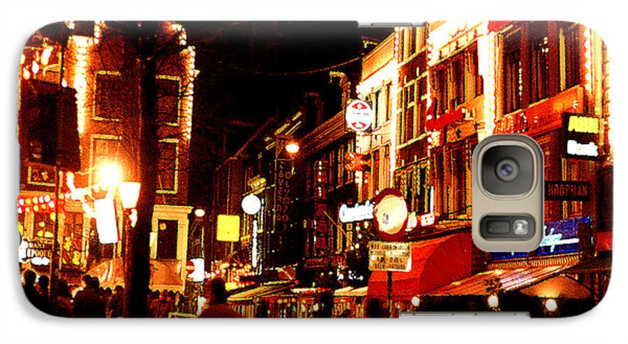 Night Galaxy S7 Case featuring the photograph Christmas In Amsterdam by Nancy Mueller