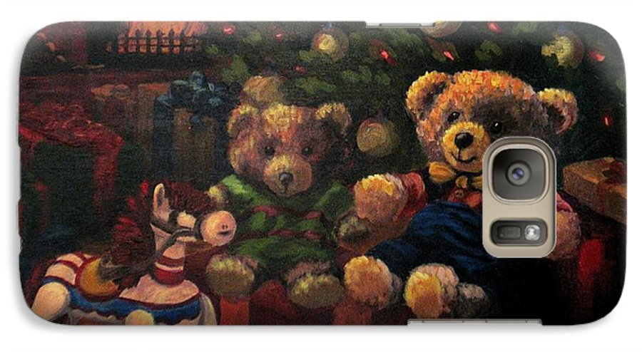 Christmas Galaxy S7 Case featuring the painting Christmas Past by Karen Ilari