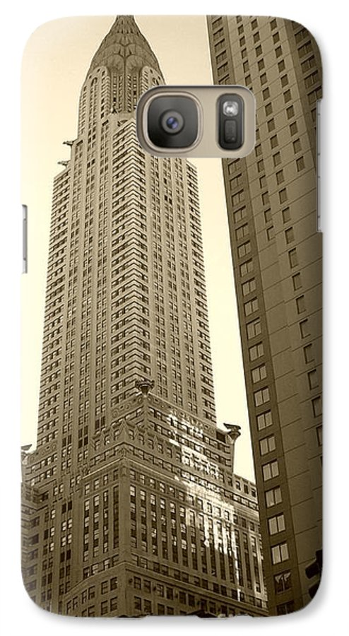 New York Galaxy S7 Case featuring the photograph Chrysler Building by Debbi Granruth