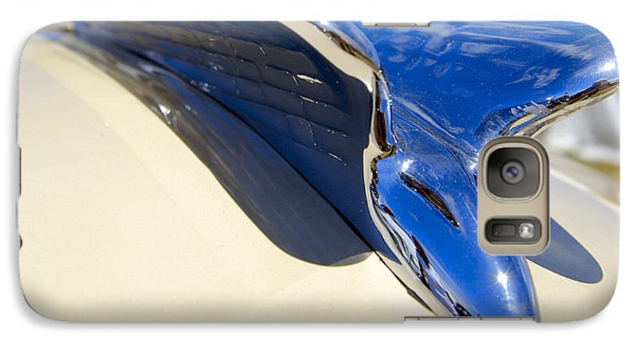Chrysler Galaxy S7 Case featuring the photograph Chrysler New Yorker Deluxe Hood Ornament by Larry Keahey