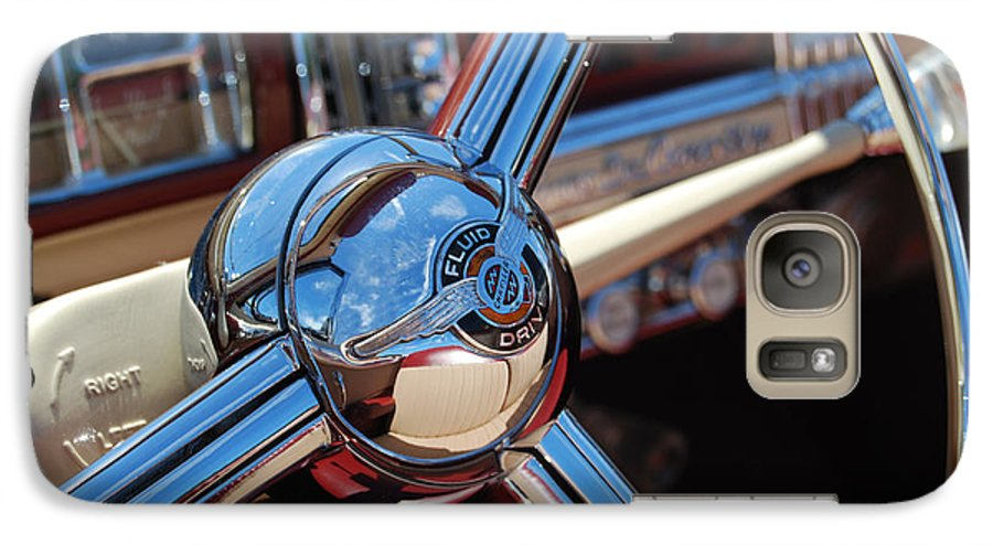 Classics Galaxy S7 Case featuring the photograph Chrysler Town And Country Steering Wheel by Larry Keahey