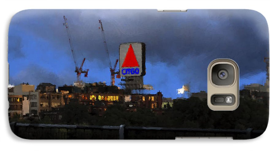 Citgo Sign Galaxy S7 Case featuring the digital art Citgo Sign by Edward Cardini