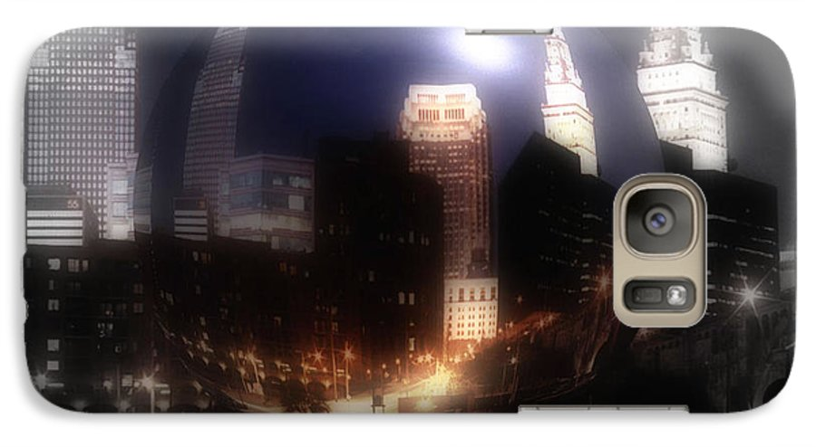 Cleveland Galaxy S7 Case featuring the photograph City On The North Coast by Kenneth Krolikowski