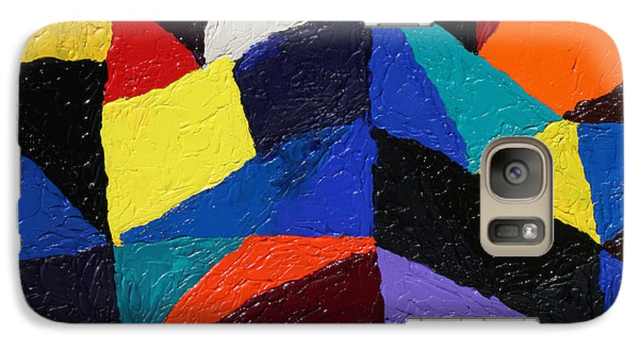 Fusionart Galaxy S7 Case featuring the painting Cityscape by Ralph White