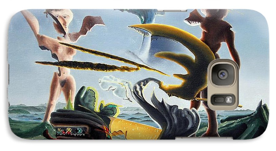 Landscape Galaxy S7 Case featuring the painting Civilization Found Intact by Dave Martsolf