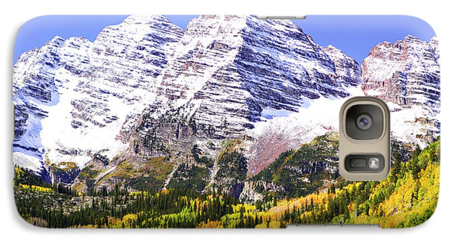 Americana Galaxy S7 Case featuring the photograph Classic Maroon Bells by Marilyn Hunt
