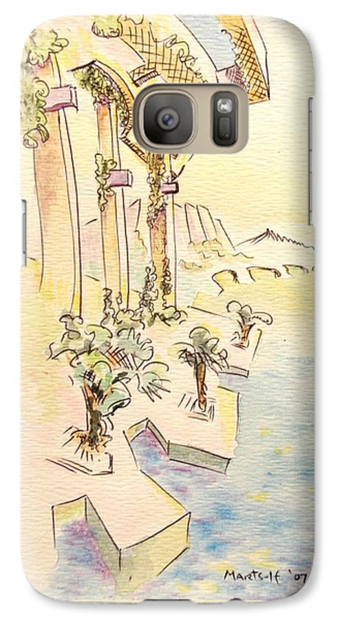 Italian Galaxy S7 Case featuring the painting Classic Summer Morning by Dave Martsolf