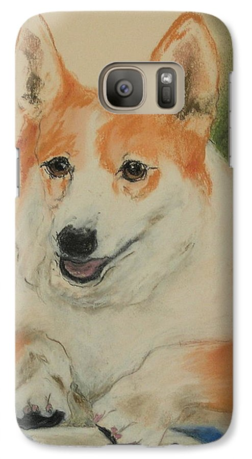 Pastel Galaxy S7 Case featuring the drawing Clear Run by Cori Solomon