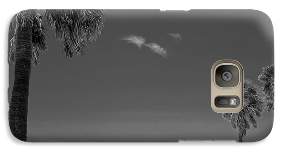 3scape Galaxy S7 Case featuring the photograph Clearwater Beach Bw by Adam Romanowicz