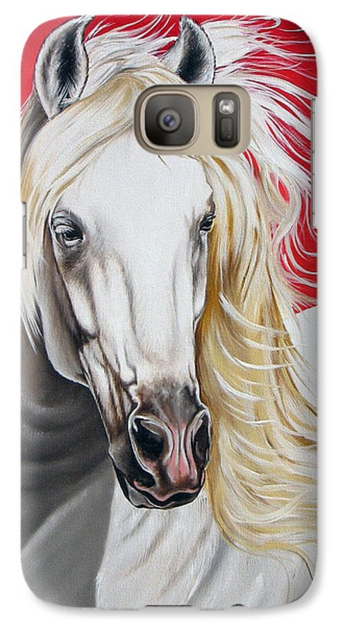 Horse Galaxy S7 Case featuring the painting Cleo by Ilse Kleyn